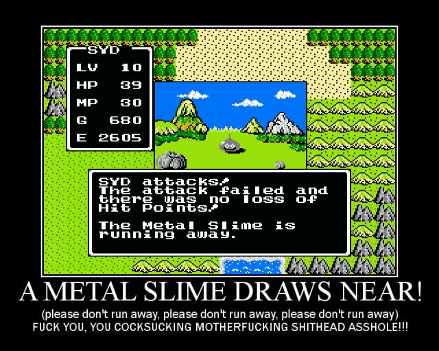 dragon warrior metal slime location